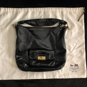 Coach Patent Leather Shoulder Bag-Gently Used